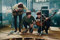 The Beatles recording Help!