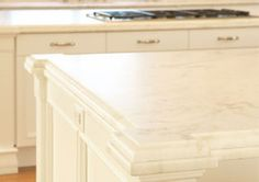 Vermont Danby marble ~ more stain resistant than other white marbles thanks to its low porosity.