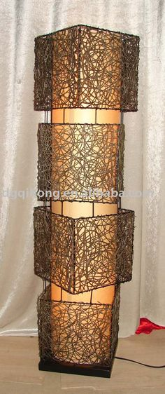 Superb Rattan Floor Lamp