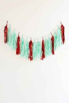 Studio Mucci Peppermint Fringe Banner - Urban Outfitters