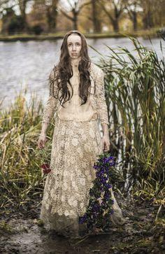 Recreation of Ophelia painting photoshoot with Thomas Hensher Ophelia Painting, Victorian, Photoshoot, Dresses, Fashion, Vestidos, Moda, Photo Shoot, Fashion Styles