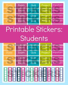 New to CommandCenter on Etsy: Student Planner Stickers Student Stickers College Student Planner Exam Planner Stickers Erin Condren Planner Stickers Printable Sticker (1.99 USD)