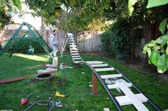 What fun, a backyard rollercoaster.