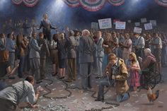 Wake Up America Lithograph by Jon McNaughton