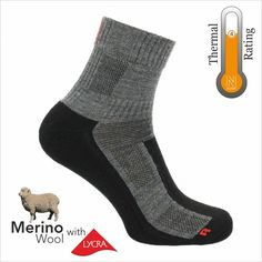 Unisex Everyday Walking Outdoors Military 3 Pair Pack Walking Sock Grey//Blue
