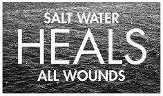 Salt water has ions, trace minerals and their is more oxygen available.  Hours in the Ocean is the best medicine.