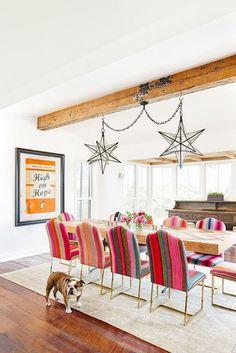 38 Beautiful Bohemian Dining Room Decor Inspirations - Popy Home Dining Room Colors, Dining Room Design, Home Interior Design, Interior Decorating, Decorating Ideas, Decor Ideas, Room Ideas, Colorful Interior Design, Colorful Interiors
