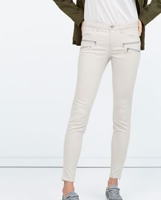 COATED JEANS-View all-Trousers-WOMAN | ZARA United States
