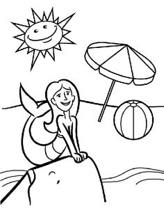 coloring pages island scene - photo#39