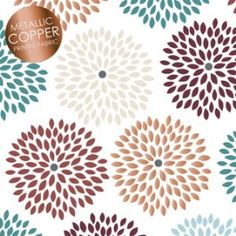 I realize I'm biased... BUT I love the fresh modern feel of this floral with pops of copper, blue, marsala and stone