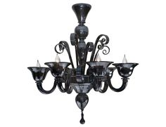 Murano 6 light chandelier in black glass exclusively handmade on the Island of Murano. Available in 6 light, 8 light or custom size. Wall light version also available. Glass Chandelier, Murano Glass, Black Chandelier, Glass, Black Glass, Murano Glass Chandelier, Chandelier Decor, Hanging Lights, Ceiling Lights