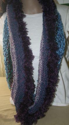 c2f132adbfc33 Escolha a sua mão de malha Capuz Ou Lenço   Xale Tweed parece Peludo