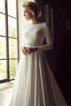 CM Kayla modest wedding gown