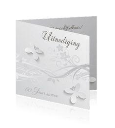 50 jaar getrouwd. Een vlinderkaart jubileum huwelijk.