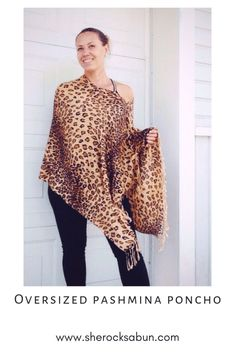 I love a good poncho - who doesn't! Feel great, look great and boost your confidence with these gorgeous and flattering accessories! Chunky Scarves, Feel Unique, How To Have Twins, Elephant Print, Things That Bounce, Looks Great, Confidence, Style Me, Rocks