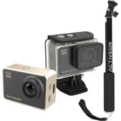 Activeon - 16.0 MP CX 2 LCD Action Camera With 30 Selfie Stick - #ACTIVEON #CX #dx #selfiestick #ActionCam #photography #waterproof #action #adventure #travel #nature