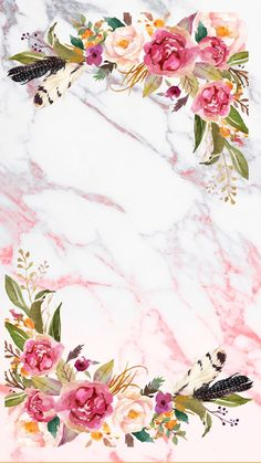 Marble background and some flowers Flower Background Wallpaper, Flower Backgrounds, Wallpaper Backgrounds, Iphone Wallpaper, Pink Floral Background, Pink Flower Wallpaper, Screen Wallpaper, Phone Backgrounds, Invitation Background
