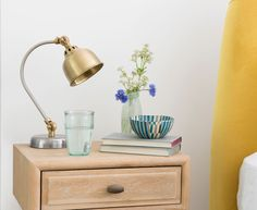 Meet the pint-sized version of our ever popular Gaston lamp. With a vintage brass finish and lovely pewter details, we reckon this little one is a hit too. Bedside Lamp, Desk Lamp, Old Lamp Shades, Rustic Desk, Old Lamps, Comfy Sofa, Gaston, Light Installation, Household Items