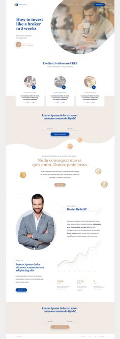 Invest Academy Landing Page – Pinspiry