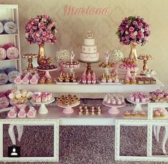 Baby shower desserts bar candy table ideas for 2019 Baby Shower Desserts, Baby Shower Favors, Baby Shower Themes, Bridal Shower, Wedding Sweets, Wedding Candy, Wedding Favors, Baptism Party Decorations, Baby Shower Centerpieces