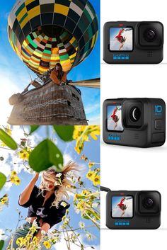 Waterproof Action Camera with Front LCD and Touch Rear Screens, 5.3K60 Ultra HD Video, 23MP Photos, 1080p Live Streaming, Webcam, Stabilization Cool Gadgets For Men, Gopro, Cool Gifts, Hd Video, Screens, Action, Touch, Live, Photos