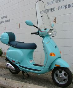Light Blue ET Vespa scooter