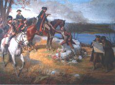 """""""Washington and Staff at Fort Lee"""" by John Ward Dunsmore"""