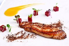Tender treat: Rich and luxurious, the Pan-Fried Rougie Foie Gras typifies the refineddining experienceat 1885.