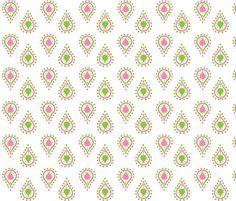 paisley raindrops  SMALL -preppy pink fabric by drapestudio on Spoonflower - custom fabric