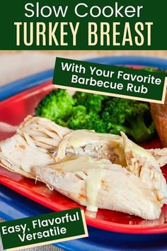 Slow Cooker Turkey Breast with BBQ Rub - this easy crockpot recipe will save time and oven space. Rubbed with your favorite blend of barbecue spices, you'll have juicy, tender white meat for Thanksgiving, Sunday dinner, or just a busy weeknight meal. Great for a small gathering, when you need more than one bird, or just want to make sure you have plenty of leftovers. Everyone loves this easy, gluten free, keto, and healthy way to prepare your turkey.