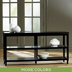 Morgan Double Wide Low Shelf $399.00 Entryway Console table will have a mirror or wall art above it