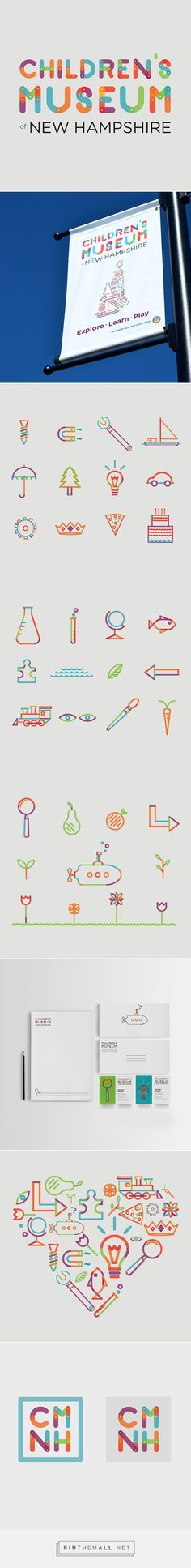 Children's Museum of New Hampshire Re-Brand on Behance - created via