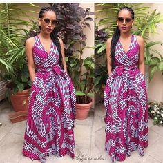 Latest African fashion, maxi Ankara dress, wrap Ankara dress, African fashion, African fabric, Ankara style
