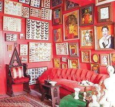 Casinha colorida: Inspiração décor: vermelho