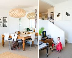 dining room table and chairs via Cush and Nooks