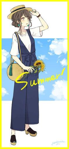 Kawaii Anime Girl, Anime Art Girl, Manga Girl, Anime Chibi, Manga Anime, Character Drawing, Character Design, Girl Sketch, Anime People