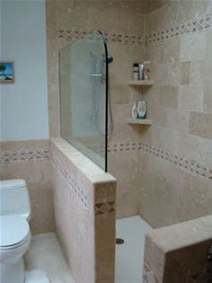 half wall shower - Bing Images