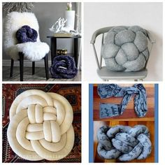 10 DIY Knot Pillows Roundup by truebluemeandyou. A blogging... | TrueBlueMeAndYou: DIYs for Creative People | Bloglovin'