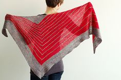 """I made this pattern slightly smaller for my mom in cream and brown.  If you can """"wrap and turn"""" this is an easy and fun pattern.    http://www.ravelry.com/patterns/library/stripe-study-shawl"""