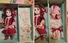 ~~~ Lovely Presentation with French Bisque Bebe and Extra Clothing ~~~ : When Dreams Come True Doll-Shop | Ruby Lane