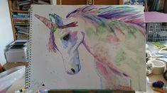Unicorn Watercolor Tattoo, Unicorn, Tattoos, Art, Art Background, Tatuajes, Tattoo, Kunst, A Unicorn