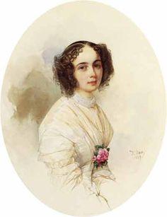 В.Гау   Портрет Е.А.Полетики. 1849