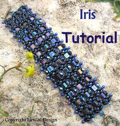 Tutoriels, Schéma Iris SuperDuo and Tila Beadwork Bracelet est une création orginale de Lirigal sur DaWanda