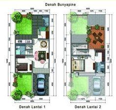 Desain Rumah Minimalis Modern Type   Lantai Rumah Minimalis