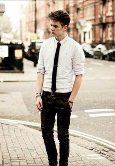 Semi-formal outfit.