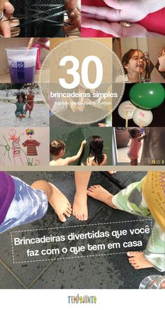30 brincadeiras simples e divertidas para fazer com as crianças em casa Montessori, Playground, Playroom, Psychology, Kids, 30, Kids Activities At Home, Holiday Activities, Kids Activity Ideas