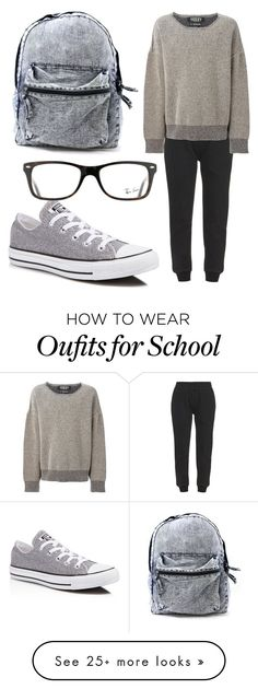 """""""Lazy 4 School"""" by egordon2 on Polyvore featuring adidas Originals, Converse and Ray-Ban"""