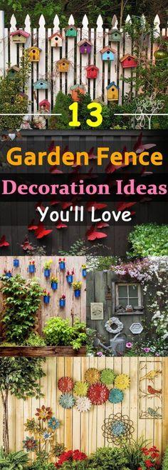garten dekoration You can beautify your garden by customizing your garden fences, here weve 13 garden fence decoration ideas for you to . Backyard Fences, Backyard Landscaping, Fence Garden, Landscaping Ideas, Backyard Ideas, Patio Ideas, Landscaping Software, Decorative Garden Fencing, Garden Web