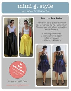 Download Finally Here! Learn to sew by using this step by step tutorial and create the infamous Maxi w/ Sash!