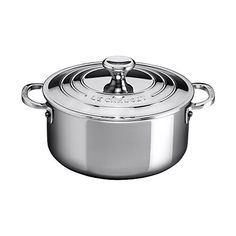 Le Creuset Stainless Steel 32 Quart Shallow Casserole with Lid -- Read more  at the image link. (This is an Amazon affiliate link and I receive a commission for the sales and I receive a commission for the sales)